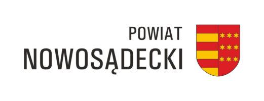 Herb Powiatu Nowosadeckiego Z Napisem Po Lewej (1)