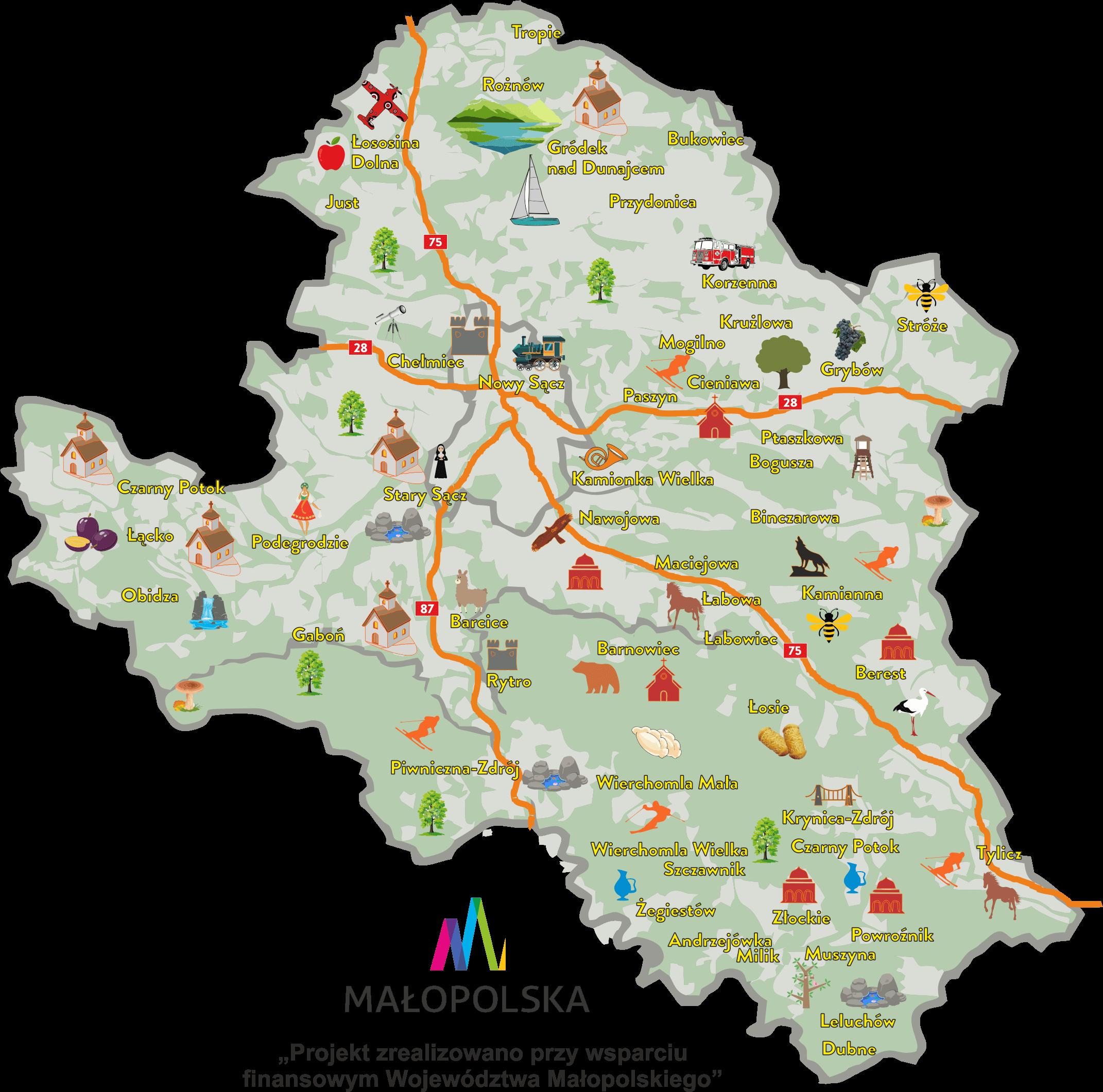 Mapa Miodnego Szlaku